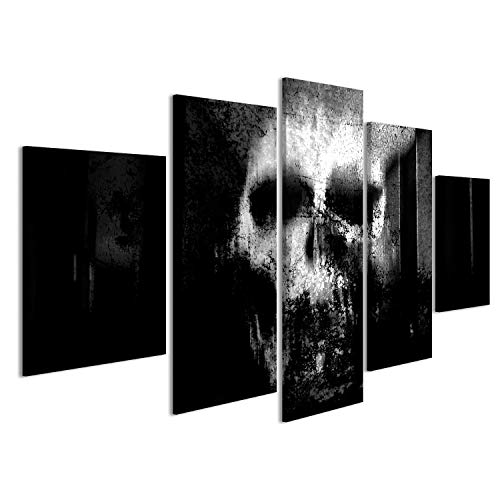 islandburner Bild Bilder auf Leinwand Totenkopf Abstrakt Poster, Leinwandbild, Wandbilder