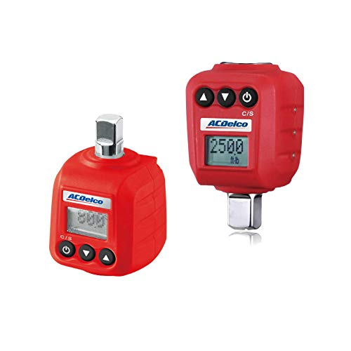 """ACDelco ARM602-34A 3/8"""" & ½"""" Heavy Duty Digital Torque Adapter Combo Kit with Buzzer and LED Flash Notification – ISO 6789 Standards with Certificate of Calibration"""