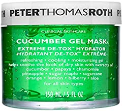 Peter Thomas Roth Cucumber Gel Mask Extreme De-Tox Hydrator, Cooling and Hydrating Facial Mask, Helps Soothe the Look of Dry and Irritated Skin