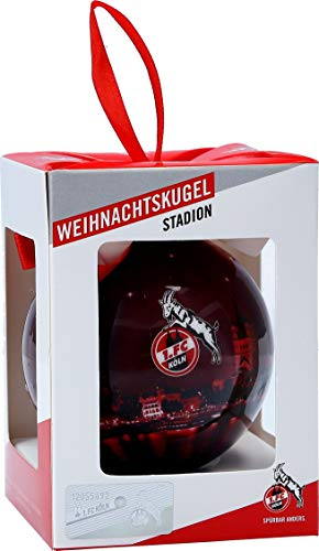 Unbekannt 1. FC Köln Christbaumkugel/Weihnachtskugel ** Skyline rot **