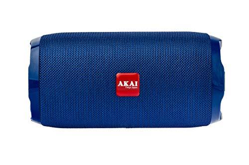 AKAI Bluetooth Wireless Speaker Bass Drum BD-22 10 Watt with Subwoofer, AUX in, TF Card, FM (Blue)