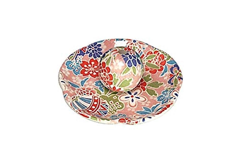 石の先史時代のモス京雅桃 花形香皿 お香立て お香たて 日本製 ACSWEBSHOPオリジナル