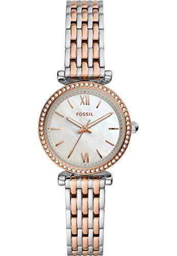 Fossil dames analoog kwarts horloge met roestvrij stalen armband ES4649