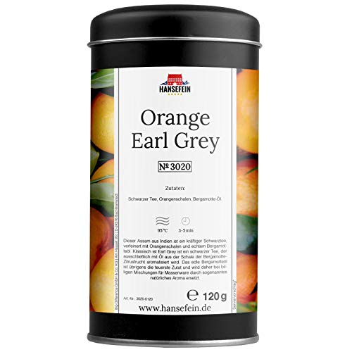 Hansefein Orange Earl Grey Schwarzer Tee 120g in Aromadose