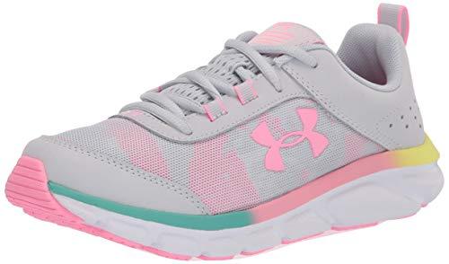 Under Armour Unisex-Youth Grade School Assert 8 Sneaker, Halo Gray (105)/White, 7