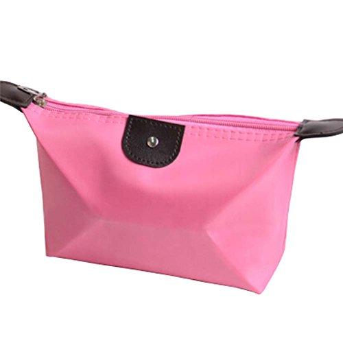 2PCS Cosmetic Containers Sacs cosmétiques (couleur rose, 17x12x6cm)