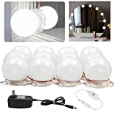 Hollywood Style LED Vanity Mirror Lights Kit Dimmable Light Bulbs, Lighting Fixture Strip for Makeup Dressing Table Mirror (12 LED Balbs)
