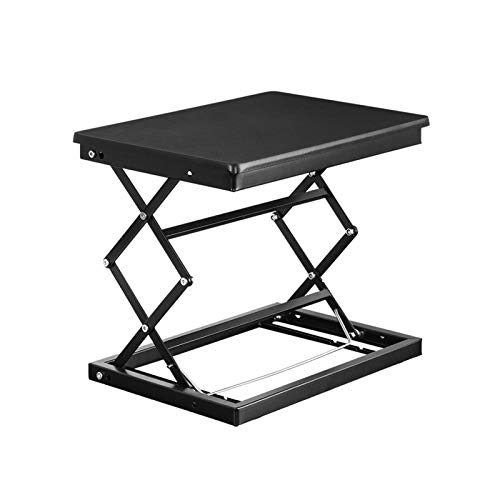 LiRuiPengBJ Standing desk converter Standing Desk Converter, Standing Desk Ergonomic X-Frame Riser for PC Computer Screen, Height Adjustable Super Sturdy Office Workstation (Color : Black)