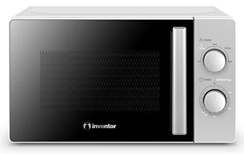 Inventor Microondas MWO-20LS de 700W, 20 Litros de Capacidad, 6 Programaciones y Modo Descongelación, Temporizador de 35min, Color Plata