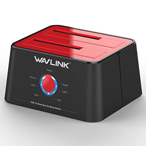 WAVLINK USB 3.0 a SATA Dual-Bay Estación de acoplamiento para disco duro externo