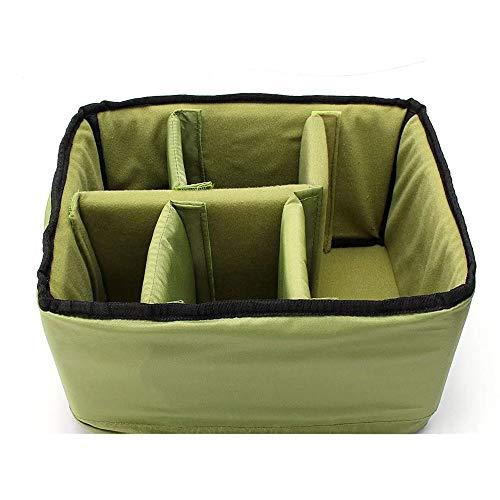 Xhtoe camera-rugzak waterdichte camera padded-zak-inzetstuk scheidingswand beschermen doos voor DSLR SLR groen gewatteerde camera rugzak rugzak zak