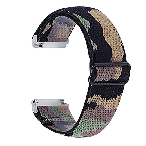 Banda de Reloj de Tela elástica para Fitbit Versa 1 2 Versa Lite Ship Mush STRUP para Fitbit Versa 3 Piezas de Bucle de la Pulsera de Sense MingYuChangHu (Color : T, Size : For Fitbit Versa 2)