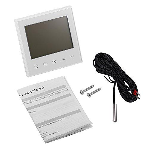 Termostato programable Termostato inteligente con pantalla LCD táctil digital Controlador de sensor de temperatura Nest para el hogar(Blanco)