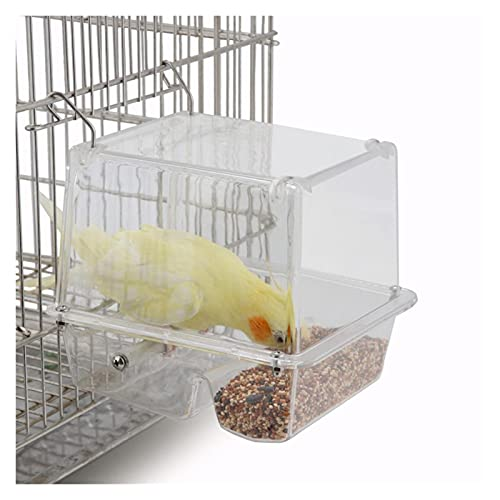RANGE Wild Bird Feeders Bird Feeder Parrot Automatic Feeder Hanging Acrylic Bird Cage Parrot Supplies Seed Catcher Tray Hanging Cup Food Dish for outdoors