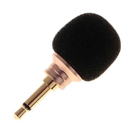 MagiDeal Mini Kondensator Mikrofon Richtmikrofon Geräte mit (3,5mm) Ausgang für Smartphone und Handy - Einzelner Kanal