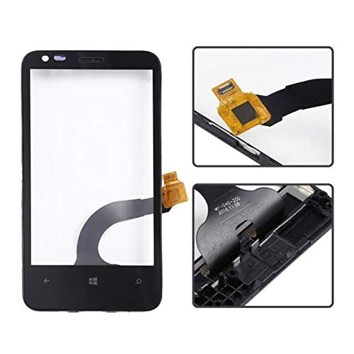 Touch Screen Digitizer for Nokia Lumia 620 Black with Frame