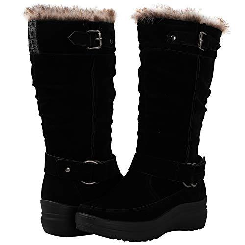 GLOBALWIN Women's 1828 Black Fashion Snow Boots 7.5M