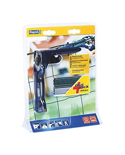 Rapid Zaunzange FP222 Set zur Befestigung von Spanndrähten und Zäunen, mit Magazin, für VR22 Zaun-Ringklammern