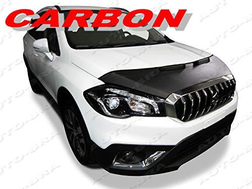 AB3-00095 CARBON OPTIK BRA SX4 S-Cross 17- Haubenbra Steinschlagschutz Tuning Bonnet Bra