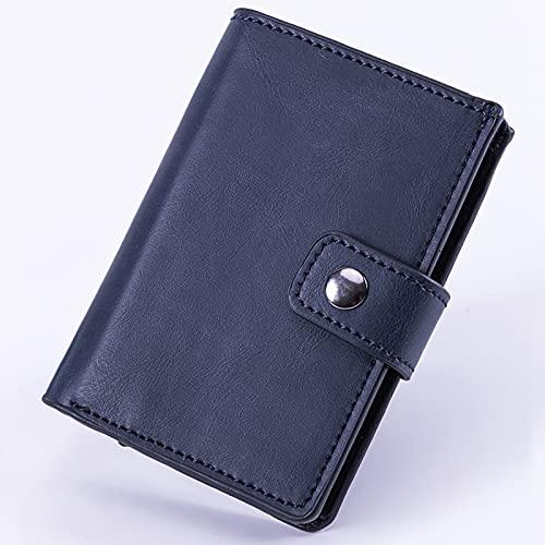 FVIWSJ Cartera Hombre Bloqueo RFID - Tarjetero Hombre Slim - Billetero Azul, Negro, Albaricoque,Azul