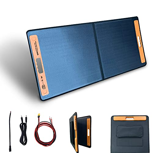 Mobisolar 60W Foldable Solar Panel Portable Monocrystalline...