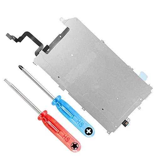 MMOBIEL LCD Metall Rückplatte mit Hitzeschild kompatibel mit iPhone 6 Plus inkl. Vorinstallierter Home Button Verbindung Flex Ersatzteil inkl Schraubenzieher und Schrauben