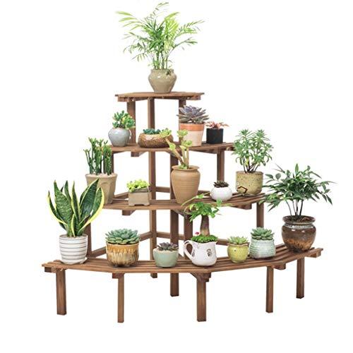JOSN 4 laag ladder bloem stand houten hoekframe tuinplant display stand bloempot plank/beugel bloem plank opbergrek