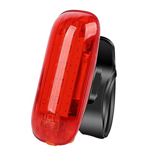 chiwanji Luz Trasera para Bicicleta, Sensor de Freno, Luz Trasera Recargable por USB, Resistente Al Agua