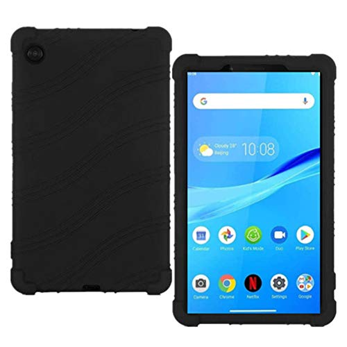 HminSen Case Compatible with Lenovo Tab M7 TB-7305F 7 inch Case, Kids Friendly Soft Silicone Shockproof Protective Cover for Lenovo Tab M7 (TB-7305L/TB-7305X) Tablet (Black)