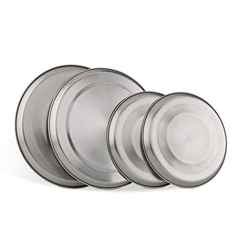 Küche + Haushalt 4 Piastre per fornello elettrico in acciaio INOX, lucidate