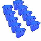 Chicken Coop Feeder Water Cup Bird Cage Treats Cups with Hook for Pigeon Poultry Roosters Gamefowl Parakeet,Plastic Feeding & Watering Supplies,10 Pieces/3.52.3inch