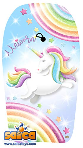 Saica Unicornio. Body Board Grande. Tabla de Sur para Playa y Piscina, Multicolor (9665)
