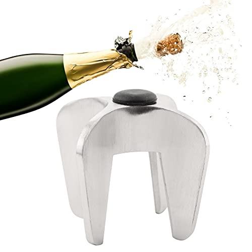 Abrebotellas de vino de Champagne, estructura de metal sólido Abridor de vino espumoso de superficie de pulido