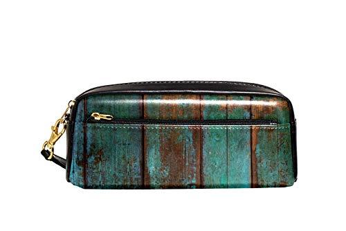 Bennigiry Alte Holzpaneele Grunge Holzbrett blau Astuccio per matite di große Kapazität borsa per bamini, Studentum, Borsa per penne, per scuola di viaggio, Piccola Borsa Cosmetica