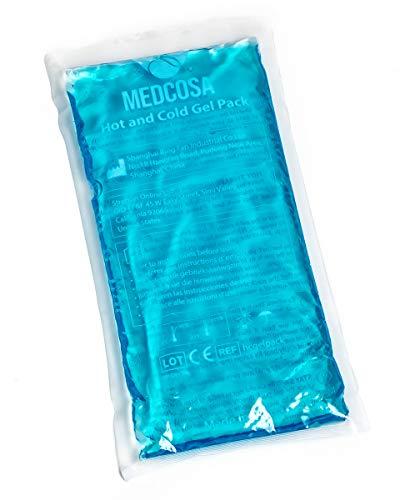Medcosa - Set de bolsas de gel frío/calor   2 bolsas de frío flexibles para lesiones deportivas, dolores musculares, ciática, migrañas y mucho más   Compresas de frío/calor reutilizables multifunción