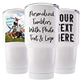 Custom Photo Tumbler w/Splash Proof Lid, 20 oz - Stainless Steel Vacuum Insulated Travel Coffee Mug with Any Picture and Text - Personalized Gifts, Gifts for Parents, Christmas Gifts, Office Gifts