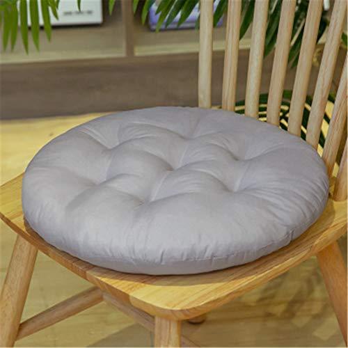 SWECOMZE 2er Set Sitzkissen, Sitzkissen für Gartenstuhl, Kissen Sitzauflage Stuhlauflage für Indoor und Outdoor 40x40 cm (Hellgrau,Runden)