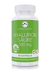 Hyaluronzuurcapsules van alparella-elementen | 500 - 700 kDa | 90 capsules | 350 mg hoge dosis | Gemaakt in Duitsland*