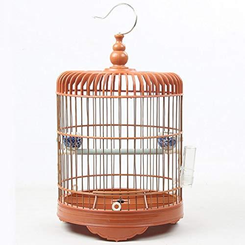 Nostalgie Árbol de Pájaro Redondo con Soporte Periquito de Pájaro para Pájaros Portátiles Pájaros para Budgies Casa Material Mediana