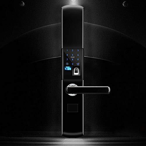 Fingerprint Smart Door Lock Elektronisches Smart Home Anti-Diebstahl-Türschloss mit wasserdichtem Anti-Diebstahl-Türschloss, mit Fingerabdruck/Karte/Passwort, sicher und bequem, schwarz
