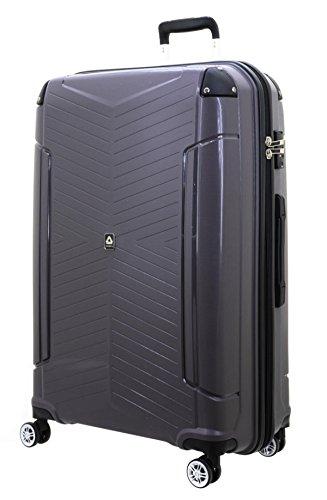 Koffer XL mit Schutzkanten Dunkelgrau 76x53x31cm Hartschale Reise Trolley Davidts Bowatex
