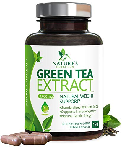 cheap Green Tea Extract 98% Standardized Weight Loss EGCG 1000 mg – Increased Metabolism for a Healthy Heart –…