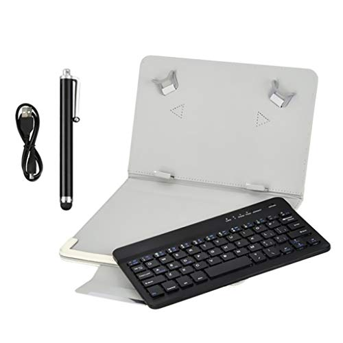 B Blesiya Teclado Bluetooth Universal 3 en 1 para Tablet PC de 9-10 Pulgadas - Negro