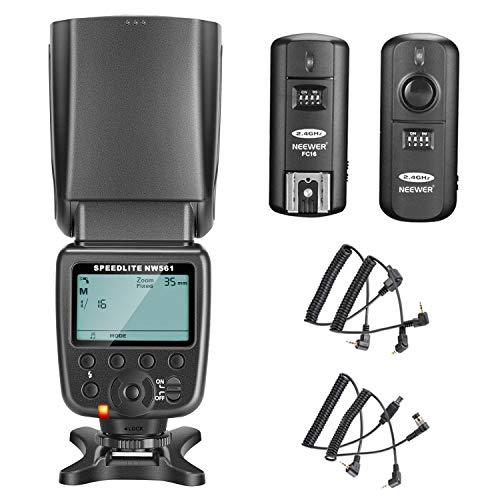 Neewer NW561 Flash Speedlite Kit for Canon Nikon Panasonic Olympus Pentax Fijifilm and Sony with Mi Hot Shoe Cameras with 2.4G Wireless Trigger
