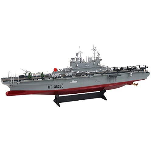 Teakpeak RC Schlachtschiff Ferngesteuert, 1: 360 2.4G RC Navy Amphibious Assault Ship Marine Kriegsschiff Modell Kriegsschiff Spielzeug