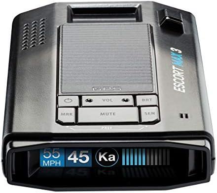 ESCORT MAX 3 Laser Radar Detector Bluetooth Connectivity Premium Range Advanced Filtering AutoLearn product image
