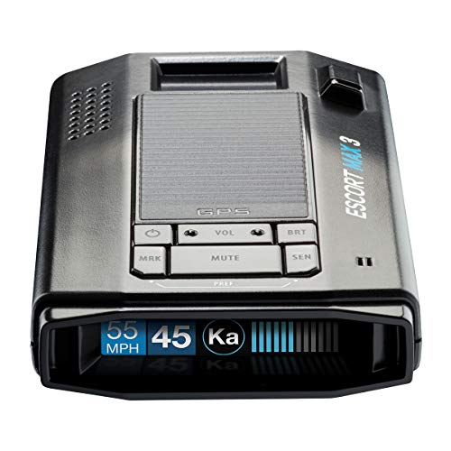 ESCORT MAX 3 Laser Radar Detector - Bluetooth Connectivity, Premium Range, Advanced Filtering, AutoLearn Technology, Voice Alerts, OLED Display, Escort Live App