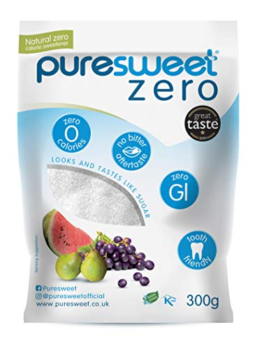 Puresweet Zero® 100% Natural Zero Calorie Sweetener 300g, No Bitter Aftertaste, Diabetic Friendly,...