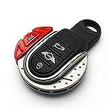 YaaGoo para Mini F54 F55 F56 F57 F58 F59 F60 accesorios de estilo de coche llavero funda, Red Grey Jack