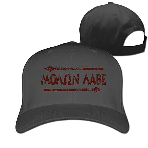 Unisex Molon Labe Arrow Classic Peak Baseball Cap & Hat Black Hüte, Mützen & Caps